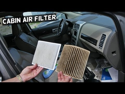 HOW TO REPLACE CABIN AIR FILTER ON LINCOLN MKX  CABIN AIR FILTER LOCATION 2007 2008 2009 2010 2011