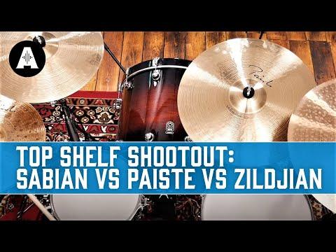 The Ultimate Cymbal Shootout! - Sabian Vs Paiste Vs Zildjian