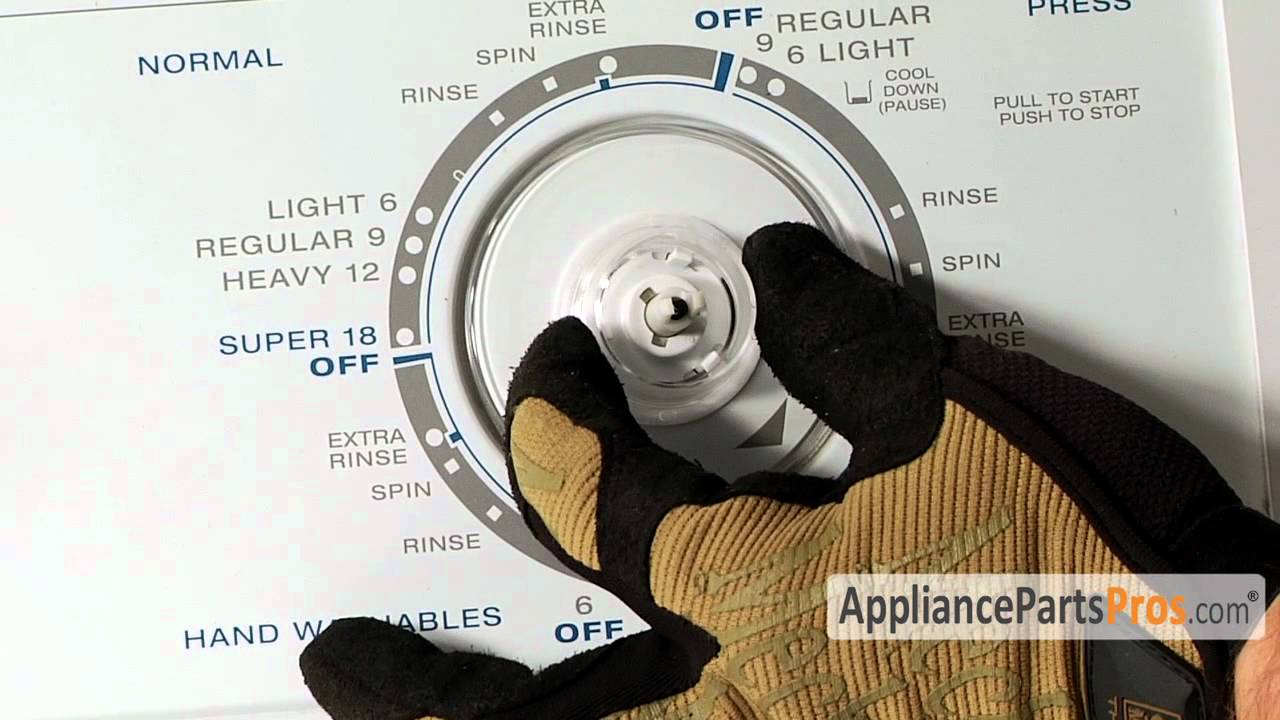 Washer Timer Dial Part Wp3957841 How To Replace Youtube Build A Long Duration