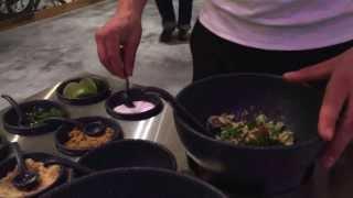 Tableside guacamole service at Antojitos