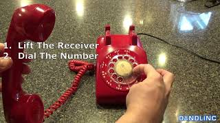 How To Dial a ROTARY TELEPHONE (a guide for Millenials...really)