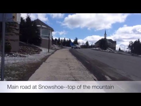 Snowshoe Mountain, WV (Starbucks, walk to convenience store for milk and beer)