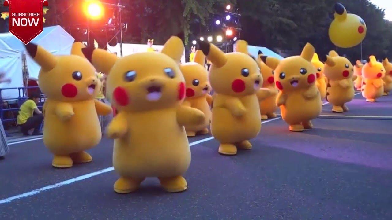 Chú Chuột Nhắt, Một Con Vịt - Pikachu Nhảy Trên Cao Sôi Động ...