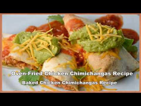 Oven-Fried Chicken Chimichangas Recipe || Baked Chicken Chimichangas Recipe