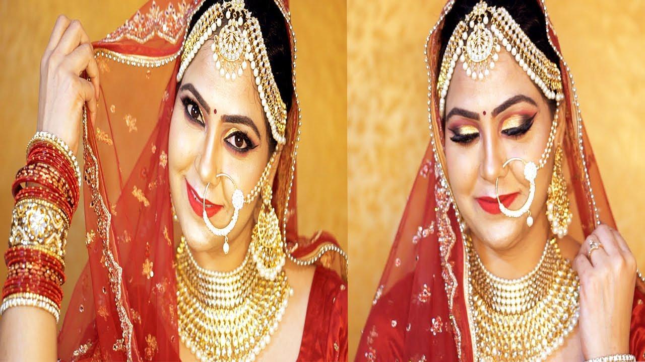 Download INDIAN BRIDAL MAKEUP TUTORIAL 2019 in Hindi : SWEAT PROOF:WATER PROOF Bridal Makeup : Alka Stylediva