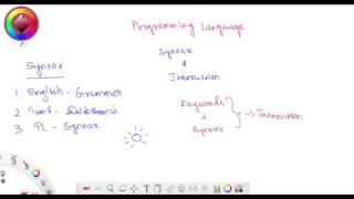 Syntax and Instruction in Programming Languages - Tamil