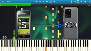 OVER THE HORIZON SAMSUNG RINGTONE HISTORY IN SYNTHESIA [Galaxy S-S20]