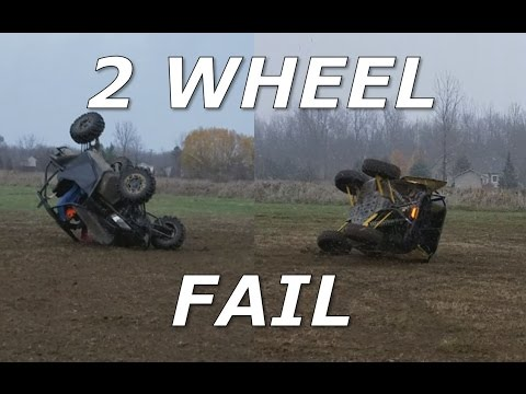 Driving on 2 wheels! YXZ1000R and Wildcat X fail!