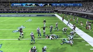 Madden 13 Online Ranked Match Gameplay Panthers vs Cowboys