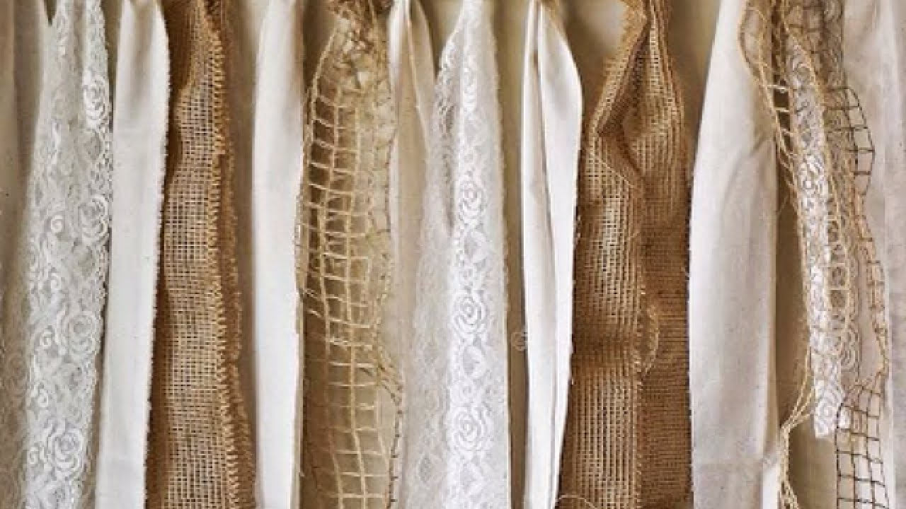 Make A Pretty Lace And Burlap Garland   Home   Guidecentral   YouTube