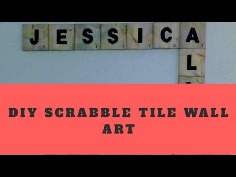 DIY Scrabble Tile Wall Art | Jessica Sunshine