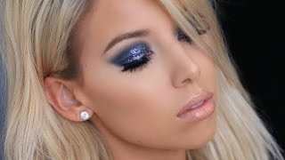 Gray Glitter Smokey Eye | LustreLux