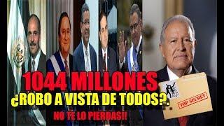 1044 millones DESAPARECIDOS por ex presidentes del FMLN y ARENA