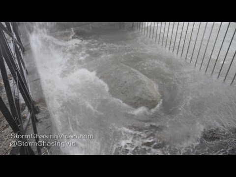 Plymouth, MA - Plymouth Rock, High Winds & Waves - 3/14/2017