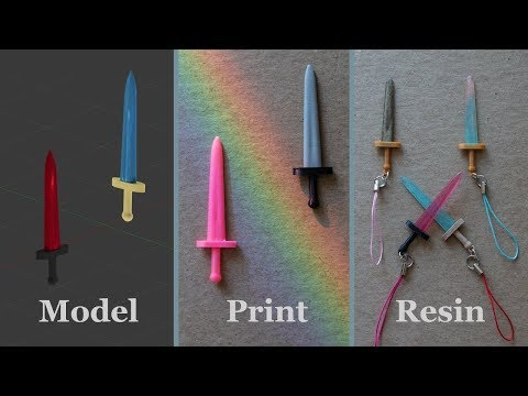Resin Swords -- 3D Modeled, Printed, & Molded