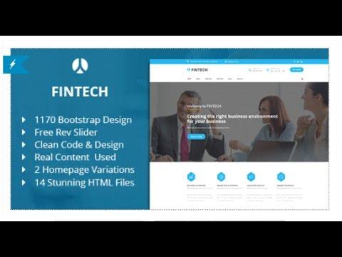 Fintech - Business Finance & Corporate HTML Template | Themeforest ...
