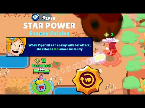 PIPER'S 2nd GADGET AND BEST BUILD! Brawl Stars UP!