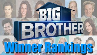 Big Brother (US) - Winner Rankings