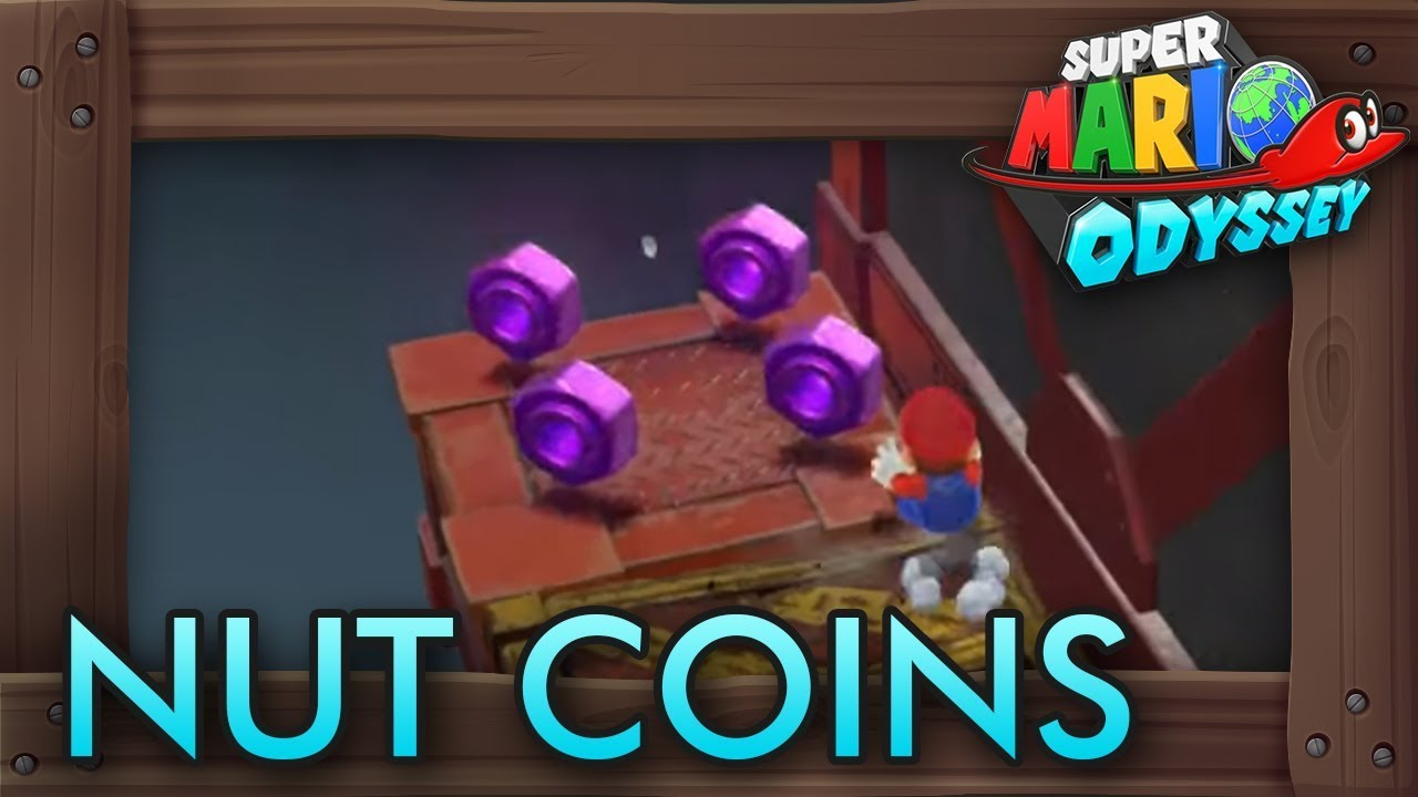 Super Mario Odyssey All Purple Nut Coins Wooded Kingdom