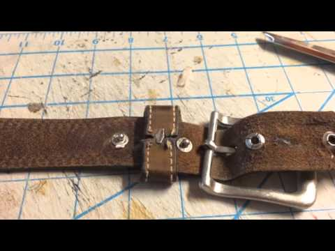 How To Repair Leather Belt Buckle
