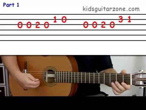 """""""How to play..."""" Happy Birthday on Guitar"""