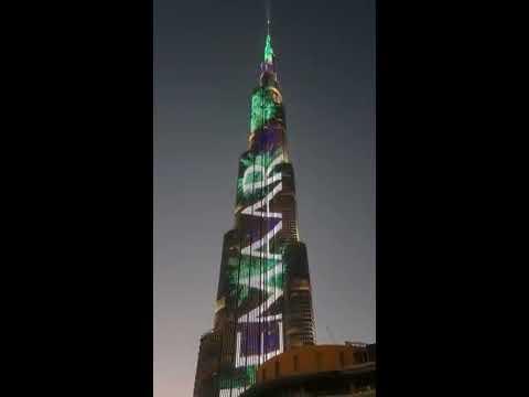 Медиафасад небоскреба Бурж Халифа | Burj Khalifa Media Facade