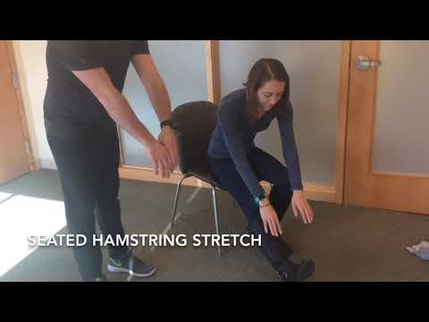 How to do a seated hamstring stretch