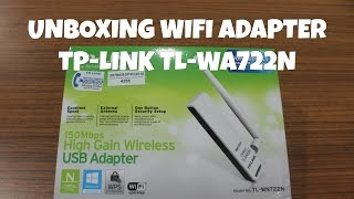 UNBOXING WIFI ADAPTER TP-LINK TL-WN722N