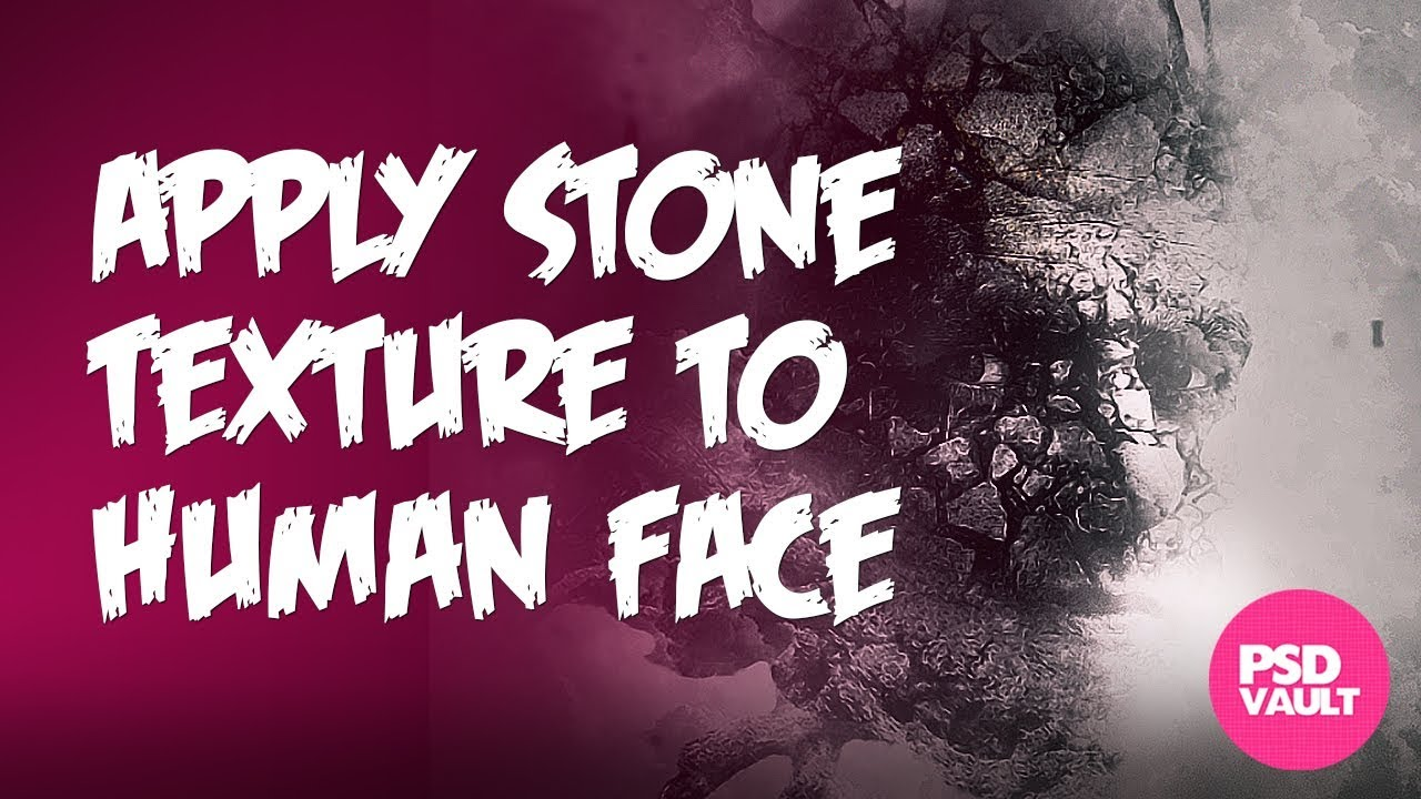 Photoshop tutorial how to apply stone texture to human face youtube baditri Images