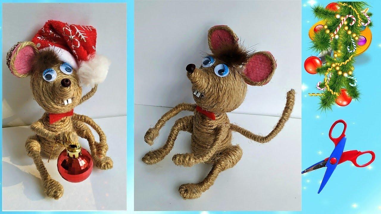 Мышка из джута своими руками/ How to make a mouse. Символ 2020