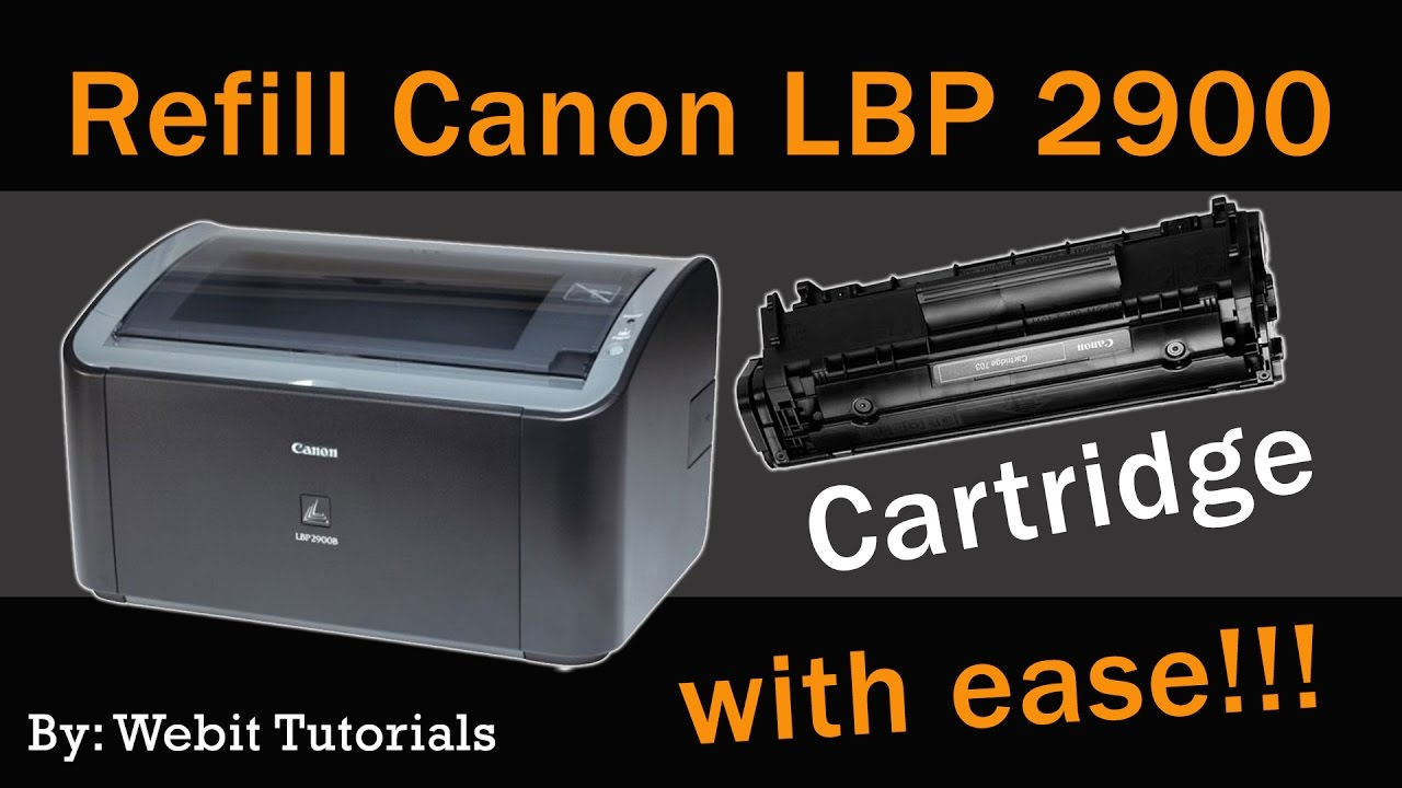 canon lbp 2900 toner refill tutorial easy method youtube. Black Bedroom Furniture Sets. Home Design Ideas