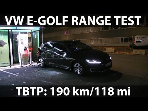VW e-Golf 35.8 kWh range test