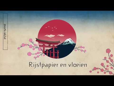 Rijstpapier en vloeien