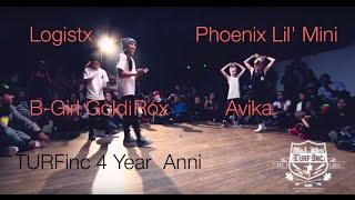 turfinc   logistx b girl goldi rox vs avika phoenix lil mini   4year anniversary dance battle