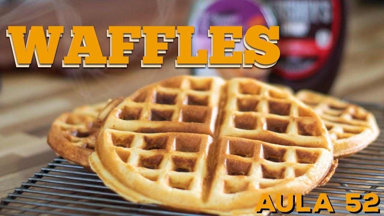 Waffles (Como fazer massa de waffles americanos) / Cansei de Ser Chef