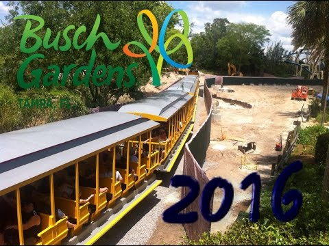 Construction Update New 2016 Roller Coaster More At Busch Gardens Tampa Youtube