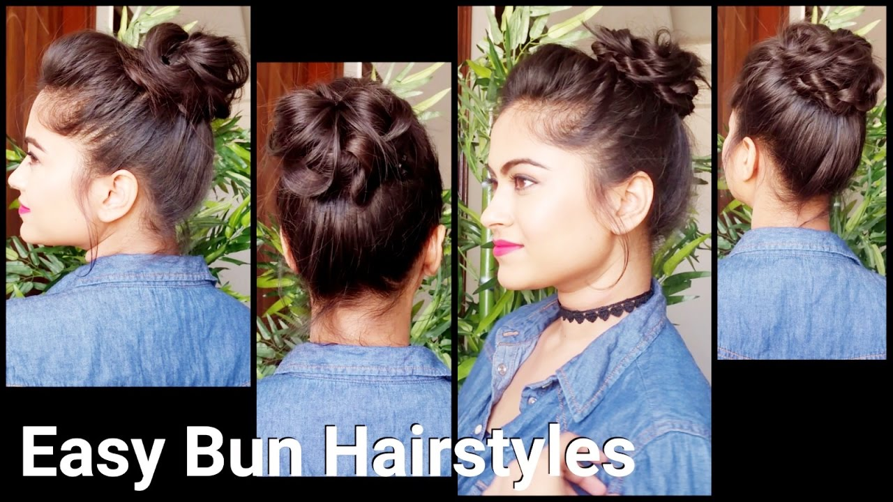 bun styles for medium hair 2 easy bun hairstyles with bunstick hairstyles for 3529 | maxresdefault