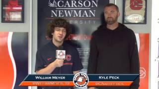 Carson-Newman beach volleyball: Kyle Peck Interview 4-7-17