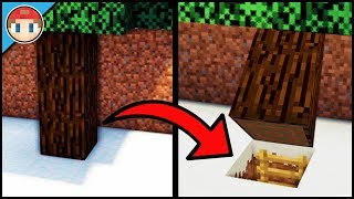 Minecraft: How to Build a Secret Base Tutorial (#11) - Easy Hidden House/Base!