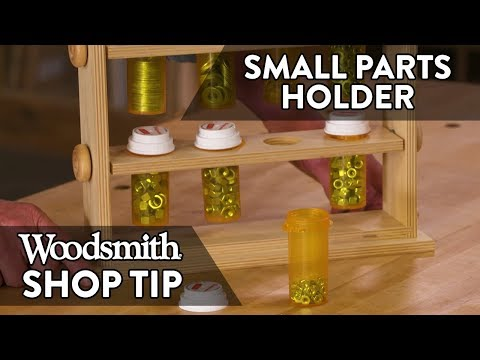 Woodworking Tip: Small Elements Holder