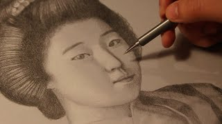 PORTRAIT OF A GEISHA - RITRATTO DI UNA GEISHA - SPEED DRAWING - HD 720p