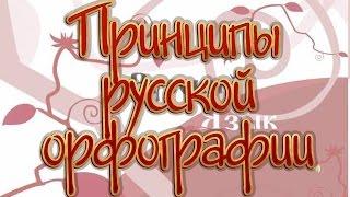 Русский язык 11 класс. Принципы русской орфографии