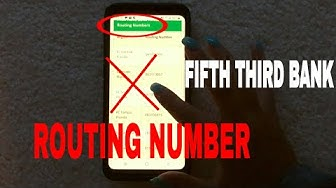 ✅  Fifth Third Bank Routing Number - Where Is It?  ?