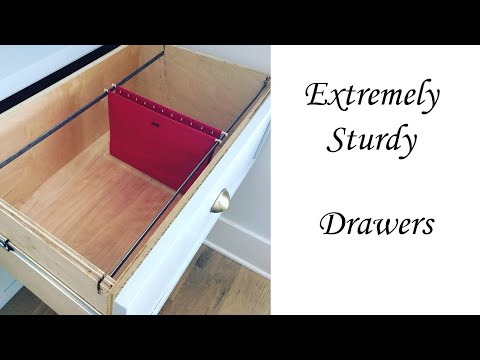 Easy DIY extremely Sturdy Drawers!