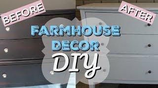 FARMHOUSE DECOR DIY | CHALK PAINT | FURNITURE MAKEOVER
