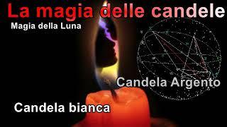 Magia  con le candele Luna candela bianca o argento influenze magiche, magia, maleficio.