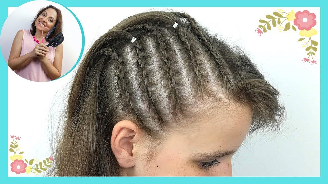 Trenzas Laterales Pegadas Para Ninas Cornrows Peinado Que Dura Varios Dias