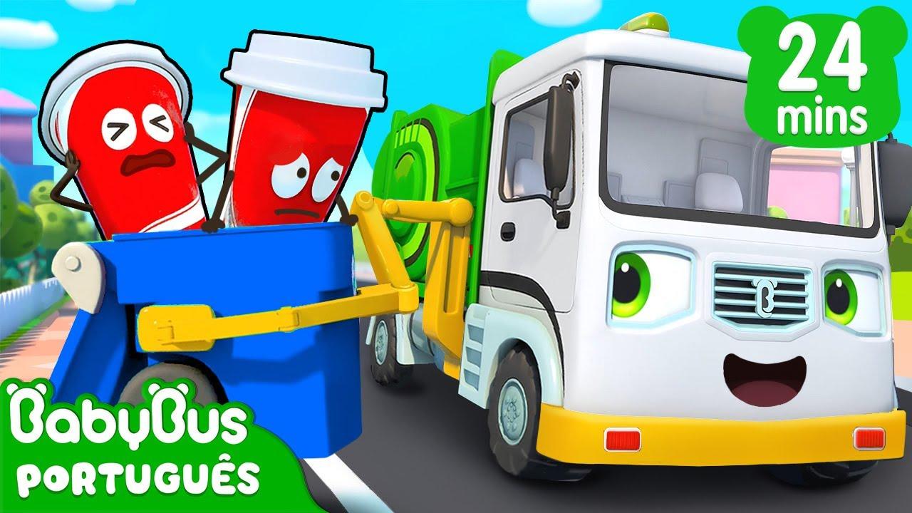 Caminhão de Lixo | Carrinho Para Crianças | Desenho Infantil | Música Infantil | BabyBus Português
