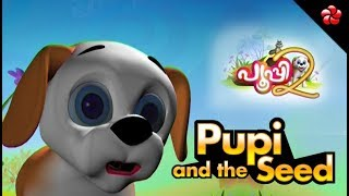 Pupi and the seed ♥ Children's Story from malayalam cartoon Pooppy Volume 2