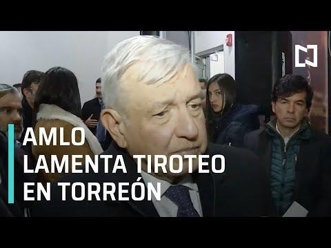 AMLO lamenta tiroteo en colegio de Torreón, Coahuila - En La Mira
